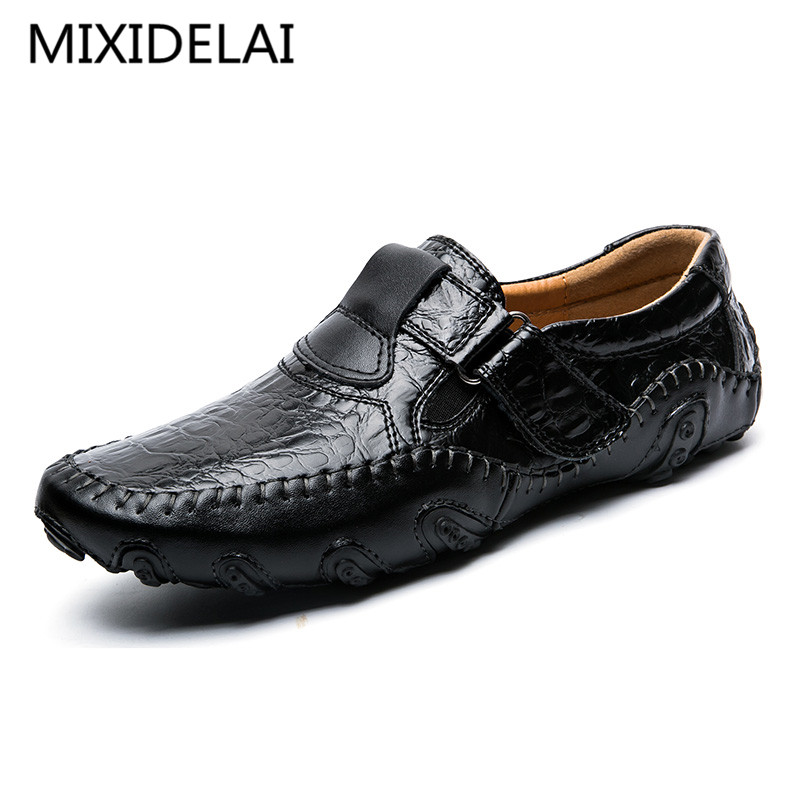 Genuine Leather Men Casual Shoes Luxury Brand 2017 Mens Loafers Fashion Breathable Driving Shoes Slip On Comfy Moccasins wonzom high quality genuine leather brand men casual shoes fashion breathable comfort footwear for male slip on driving loafers