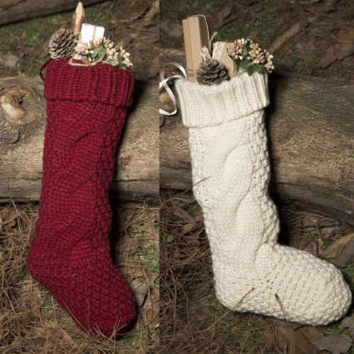 ถุงน่องคริสต์มาสซานตารองเท้าบูตSuspendersถุงของขวัญขนมถุงน่องคริสต์มาสถุงขนมคริสต์มาสสำหรับบ้าน