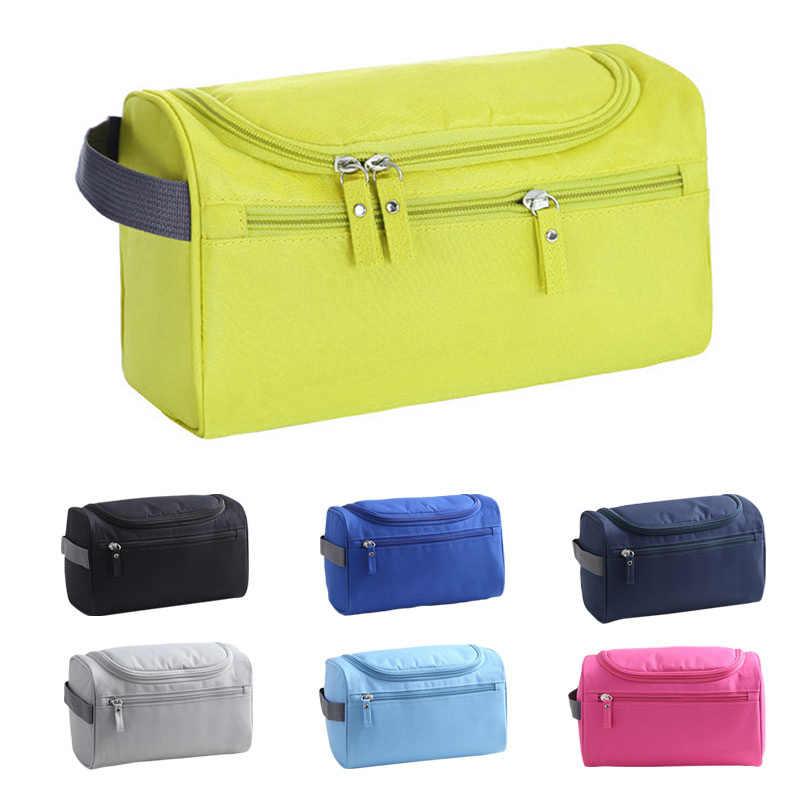 2fa9bf8bdf0c New Fashion Women Makeup Bag Nylon Waterproof Men Hanging Make Up Organizer  Travel Cosmetic Bag Wash Toiletry Case Necessaire