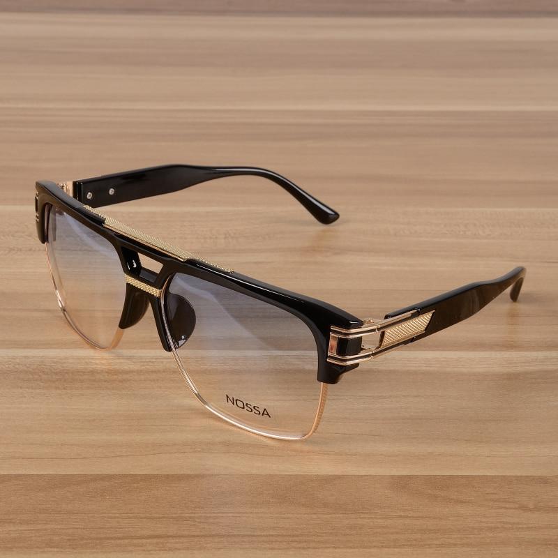 NOSSA Designer Designer Big Frame Glasses Ms. Men's Retro Glasses Personality Sunglasses Fashion Trend Literary Glasses.