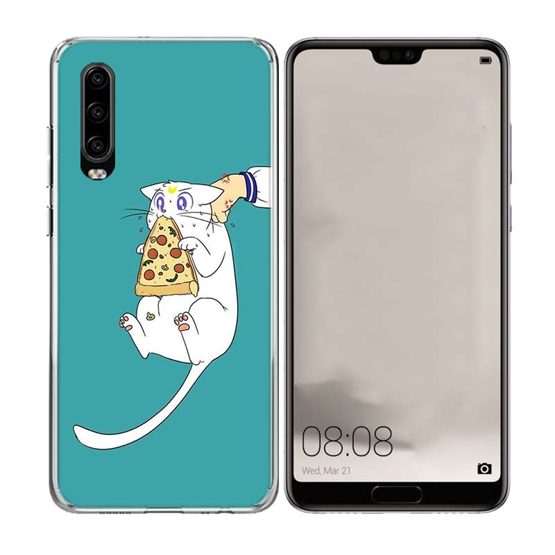 Sailor Moon Girl Popular Art Phone Case for Huawei P20 P30 Lite Pro P8 P9 P10 P Smart Nova 4 Gift Pattern Customized Cover Cases in Half wrapped Cases from Cellphones Telecommunications