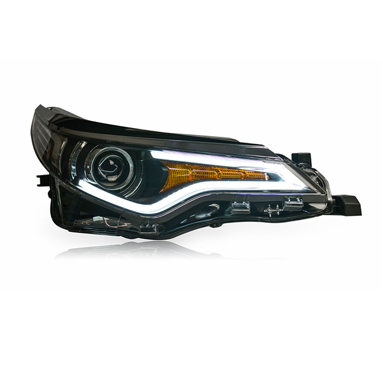 Ownsun New Eagle Eyes LED DRL Bi-xenon Projector Lens Headlights For Toyota Levin 2014-2015 ownsun new eagle eyes led drl bi xenon projector lens headlights for chevrolet cruze 2015 2016