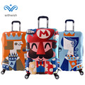18-32inch Trolley Suitcase Couple's Travel Luggage Protective Cover Elastic Mario Colorful Cartoon Print Plus Size S/M/L/XL