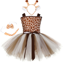 Conjunto de disfraz de jirafa y tutú para niña, disfraz de Halloween para niño y niña, traje de actuación elegante para fiesta de cumpleaños