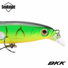 SeaKnight SK007 Minnow Fishing Lure 7PCS Wobblers 10cm 16g 0.6-1.2M Artificial Bait with Feather Carp Fishing Tackle for Fishing