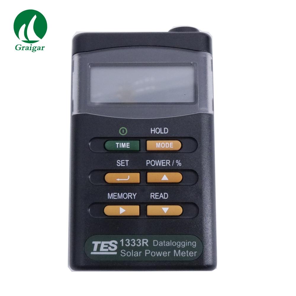 Datalogging Digital Solar Power Meter Tester TES 1333R (RS 232 Interface) tester meter tester digital tester power - title=