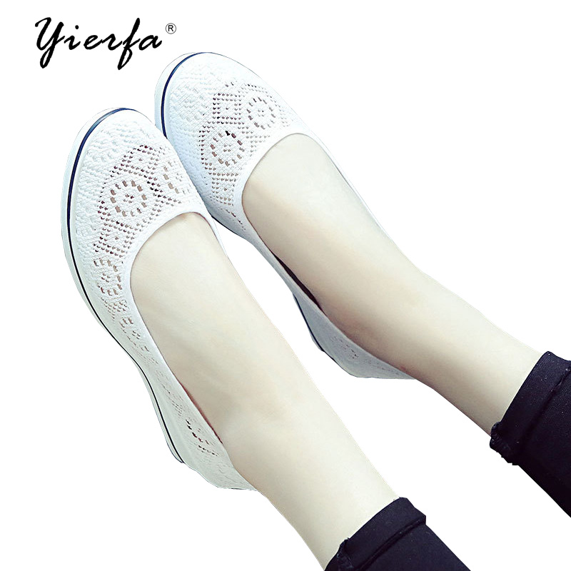 Women shoes white midslope with the female summer beauty shoes 2018 new hollow breathable white shoes women creepers shoes 2015 summer breathable white gauze hollow platform shoes women fashion sandals x525 50