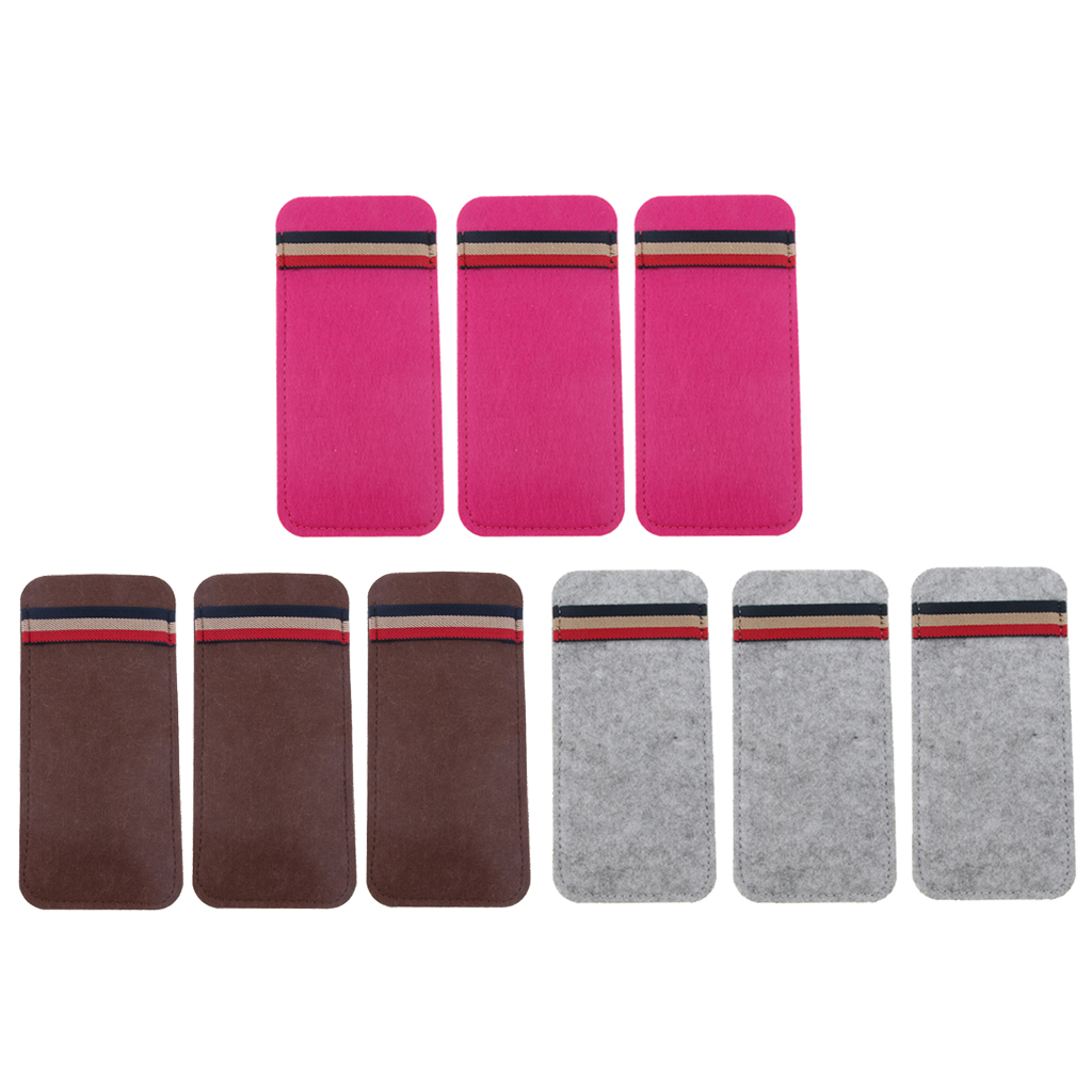 3pcs Soft Felt Sleeve Sunglasses Eyeglass Storage Brief Pouch Case Pen Bag Glasses Protector in Eyewear Accessories from Apparel Accessories