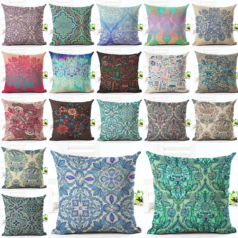2016 Newest Home Decor Cushion Cover Bohemian Style Car Home Decorative Throw Pillowcase Cojines Almofada