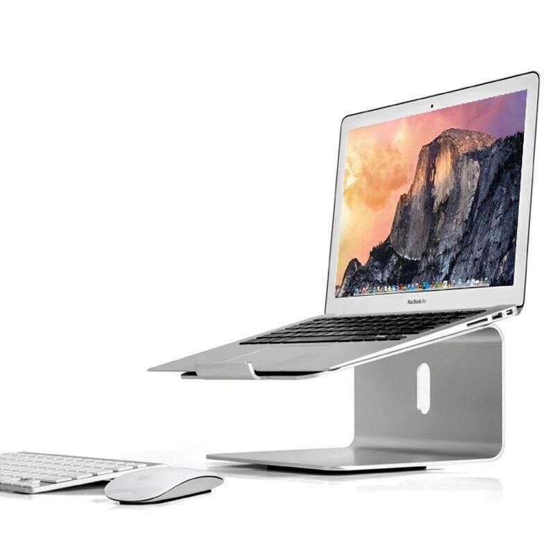 AP-2 support d'ordinateur portable en aluminium Lapdesk 360 rotatif ergonomique Angle de 15 degrés 11-17 pouces ordinateur portable augmenter la conception de support pour MacBook