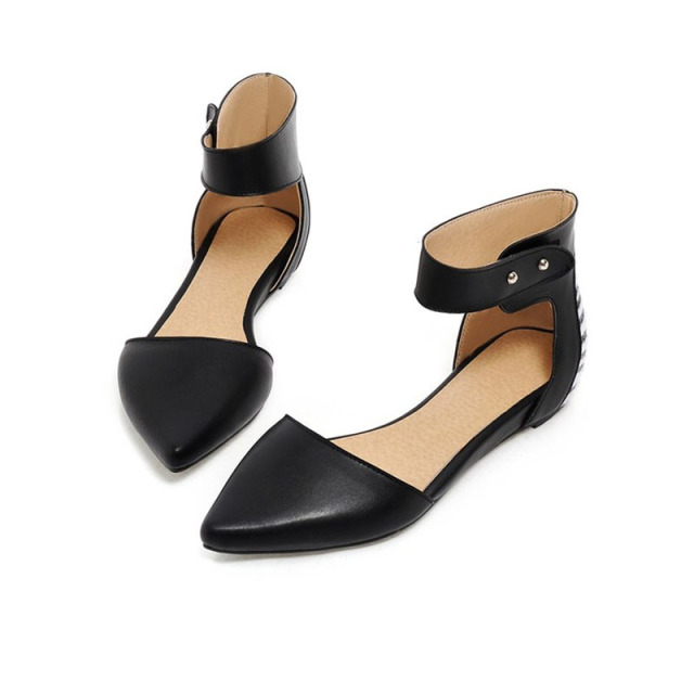 New Arrival Women s Sandals PU Leather Black Flat Sandals Women Summer  Dress Sandals Ladies Sexy Rome Style Shoes Zapatos Mujer d5fd2cd782