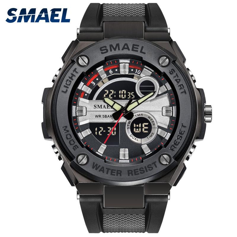97caae7abac Homens SMAEL Esporte Militar Relógios Marca De Luxo Relógios de Quartzo  Relógios de Pulso Masculino relogio Digital de 1625 Homens Do Esporte  Relógios À ...