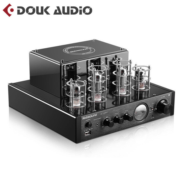US $119 99 |2018 NEW Nobsound MS 10D MKII 50W Bluetooth Stereo Valve Tube  Amplifier Hybrid Integrated Power Amp Hi Fi USB-in Amplifier from Consumer