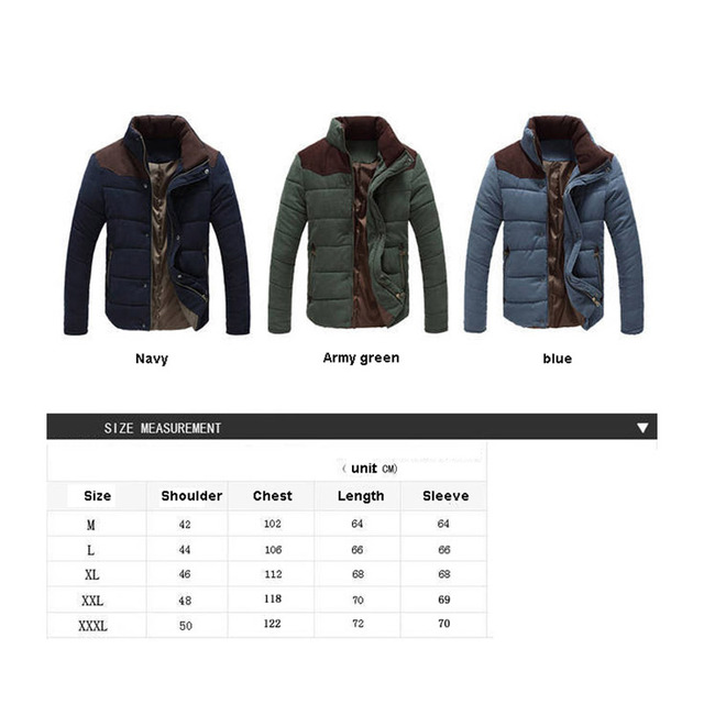 2019 Winter Jacket Men Warm Causal Parkas Cotton Coat Male Outwear Coat Size M-4XL