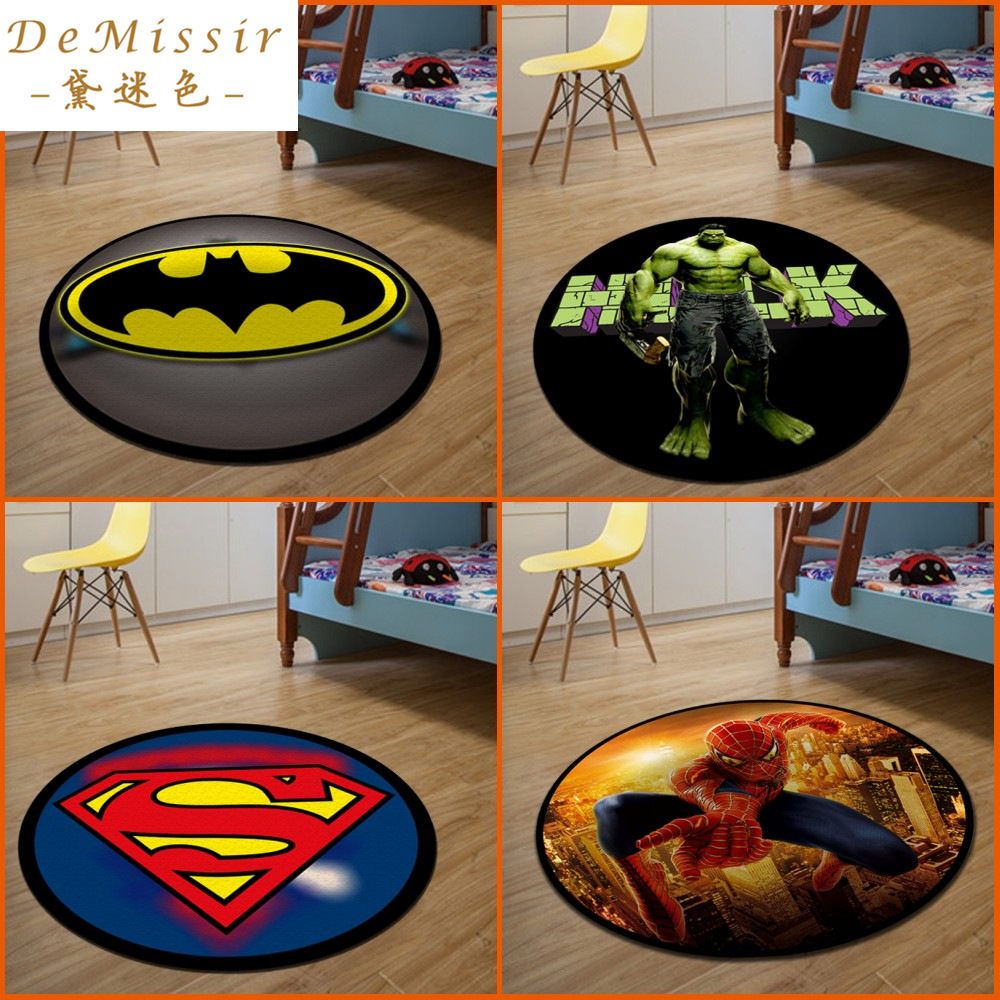 Hot 3D Cartoon Round Small Rug Dywan Dia 60CM Alfombras Dormitorio Circular  Living Room Chair Pad