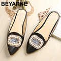 free shiping 2016 fashion Luxurious flat Sandals Casual women sandal ladies flat shoes Crystal Pearls Slippers