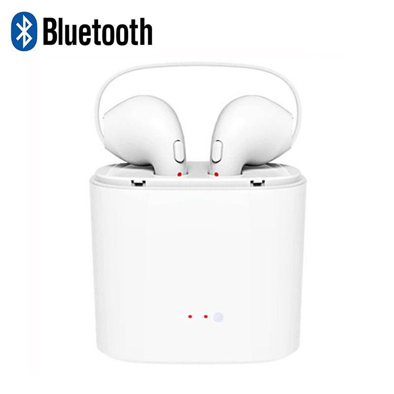 I7S TWS Earbuds Wireless Bluetooth Double Earphones Twins Earpieces Stereo Music Headset For iPhone 8 7 6S Plus Note S8 mini tws earbuds ture wireless bluetooth double earphones twins earpieces stereo music headset for iphone x 8 8 plus huawei