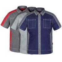 Bauskydd Nam chất lượng Cao bền Poly cotton t/c 65/35 ngắn tay áo làm việc áo sơ mi công việc quần bảo hộ lao động làm việc áo t-shirt