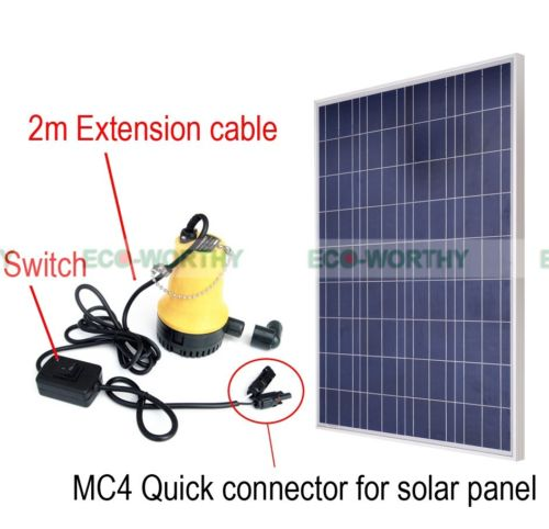 100W 12Volt Solar Panel W/ DC 12V Solar Power Pond Water Pump for Pisciculture маяк findme f2 volt