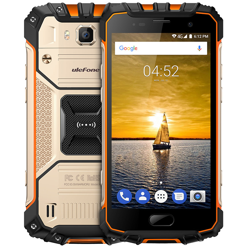 Ulefone Armatura 2 4G Smartphone Android 7.0 Helio P25 Octa Core 2.6 GHz 6 GB di RAM 64 GB ROM IP68 Impermeabile NFC 16.0MP Fotocamera Posteriore