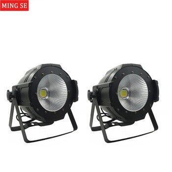 2 unit LED COB Cahaya 100 W Daya Tinggi Aluminium DJ DMX Par Led Beam Cuci Efek Strobe Tahap Pencahayaan, Putih Dingin Putih dan Hangat