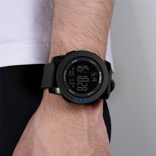 9cb98f55484f Reloj de los hombres militar deportes relojes moda silicona impermeable LED  Digital Reloj para hombres reloj