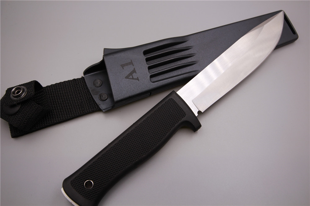A1 Small straight knife 8Cr13 steel ABS sheath Matte surface 56HRC Outdoor survival camping knife Multi-functional utility tools