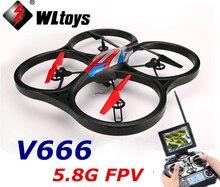 WLtoys V666 5.8G FPV 6-Axis Gyro UFO RC Quadcopter 2MP Camera and FPV Monitor WL V666 RTF 2.4GHz VS WLtoys V262 X30V