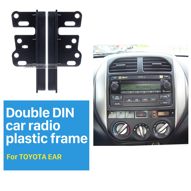 Seicane Universal Double Din Car Radio Fascia for Toyota Ear Sides Dash Mount Kit Face Plate  sc 1 st  AliExpress.com & Seicane Universal Double Din Car Radio Fascia for Toyota Ear Sides ...