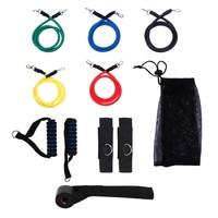 Bouti1583 Novo 11 Pçs/set Tubos Workout Exercício Pilates Yoga Crossfit Aptidão Faixas da Resistência do Látex Puxar Corda