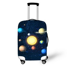 Cosmic Print travel accessories suitcase protective covers 18-30 inch elastic luggage dust cover case stretchable Waterproof