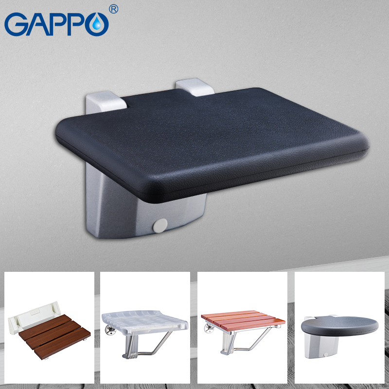 GAPPO wall mounted chairs shower folding seat Relaxation Shower Chair Solid Seat Spa Bench bath shower