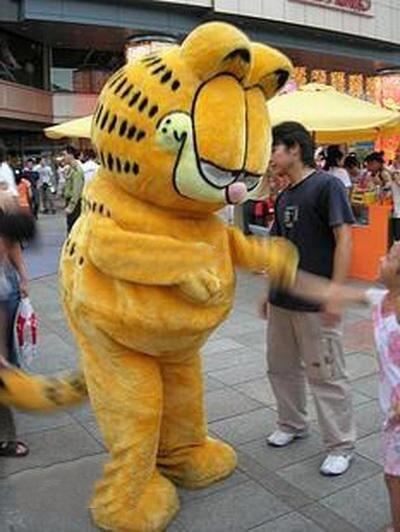 Garfield Kot Kreskówka Maskotka Kostium Kostiumy Halloween Boże