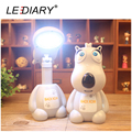LEDIARY Bright Cartoon Backkom LED Rechargeable Desk Lamp Student Foldable Table Light Flexible Length Eye-protect Reading Lamp