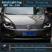 Car Styling VW Passat headlights 2011-2014 Europe Passat b7 led headlight Volks Wagen drl H7 hid Bi-Xenon Lens low beam