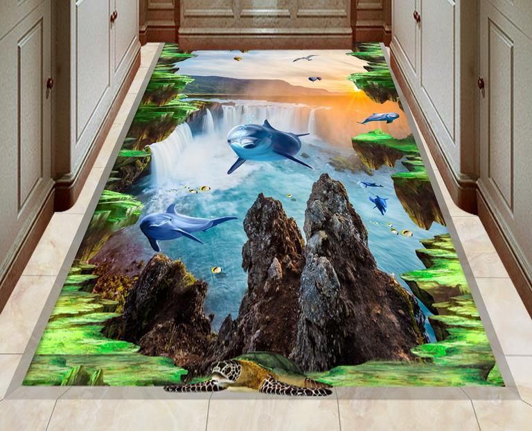 3d Fußboden Aufkleber ~ D boden aufkleber wasserdicht custom tapete selbstklebende d