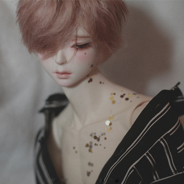 New arrival BJD SD 1/3 U-hwa Half Open Eyes Dazzling  Boys Free Eye Balls Gift  Fashion Shop