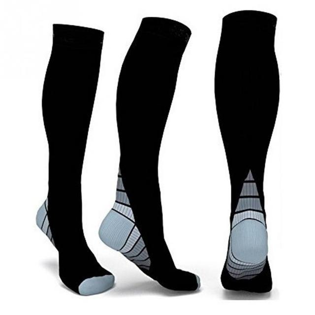 Contrast Heel Knee High Compression Socks