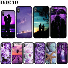 Infinity Di Ungu Coque Shell Silikon Lembut Case untuk iPhone 11 Pro Max XR X XS MAX 8 7 6 6S PLUS 5 5S SE Cover(China)