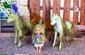 Free  Shipping,Christmas gift/Birthday gift Exquisite small horse for Kelly Barbie doll,toys for girls gift