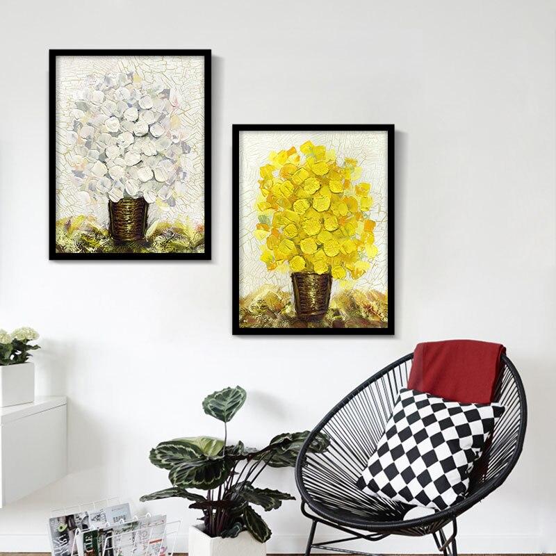 Blume Leinwand Ölgemälde Farben Floral Wandbild Retro Drucke für ...