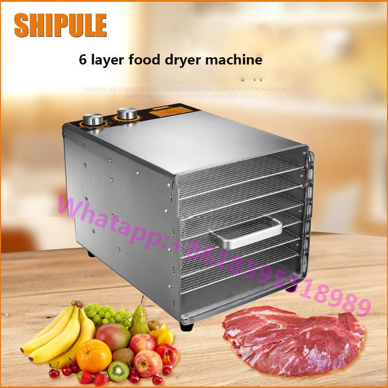 SHIPULE home dried fruit machine food dehydration fruits and vegetables meat medicine food drying machine 1pcs 8 layer fruit dry machine dehydration machine large capacity food drying machine