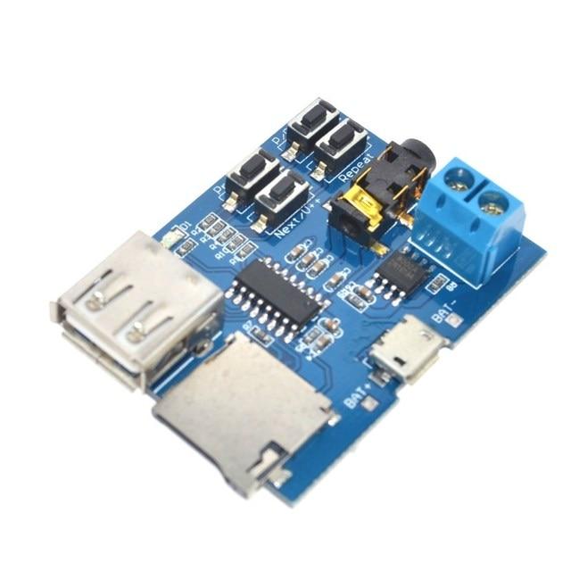 Free Shipping TF card U disk MP3 Format decoder board module amplifier decoding audio Player