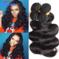 VIP beauty Indian body wave virgin hair 4 bundles Indian human hair weave Unprocessed raw virgin indian body wave hair