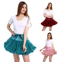Women's Elastic Waist Multi Layer Tulle Tutu Short Skirt Petticoat Underskirt Wedding Dress Accessories