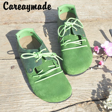 Careaymade-Genuine Leather pure handmade shoes, the retro art mori girl shoes,Women's casual shoes Flats shoes,11 colors