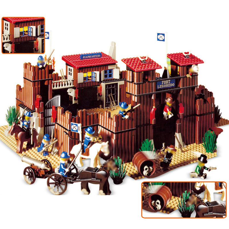 33001 742Pcs Western The Idian Cowboy`s Castle Fort Building Blocks Bricks Toys for Children 6769 Legoed Christmas Gift pamela britton a cowboy s christmas wedding