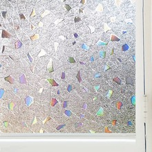 3D Laser Decorative Window Film Glass sticker Privacy Self-adhesive electrostatic vinyl heat transfer bedroom door home decor