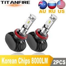 Ampoules de phare Automobile CSP 9005 K, 2 pièces, S1 Led H1 H3 H4 H7 H11 H13 9006 9007 9004 6500, lampe antibrouillard 50W 8000LM