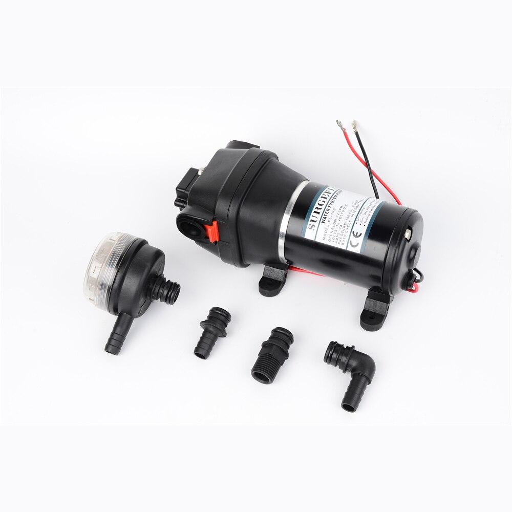 12V 24V DC High Pressure 100 PSI(7.0Bar) Lift Max 60m Electric Diaphragm Cleaning Car Washing Pump FL-100